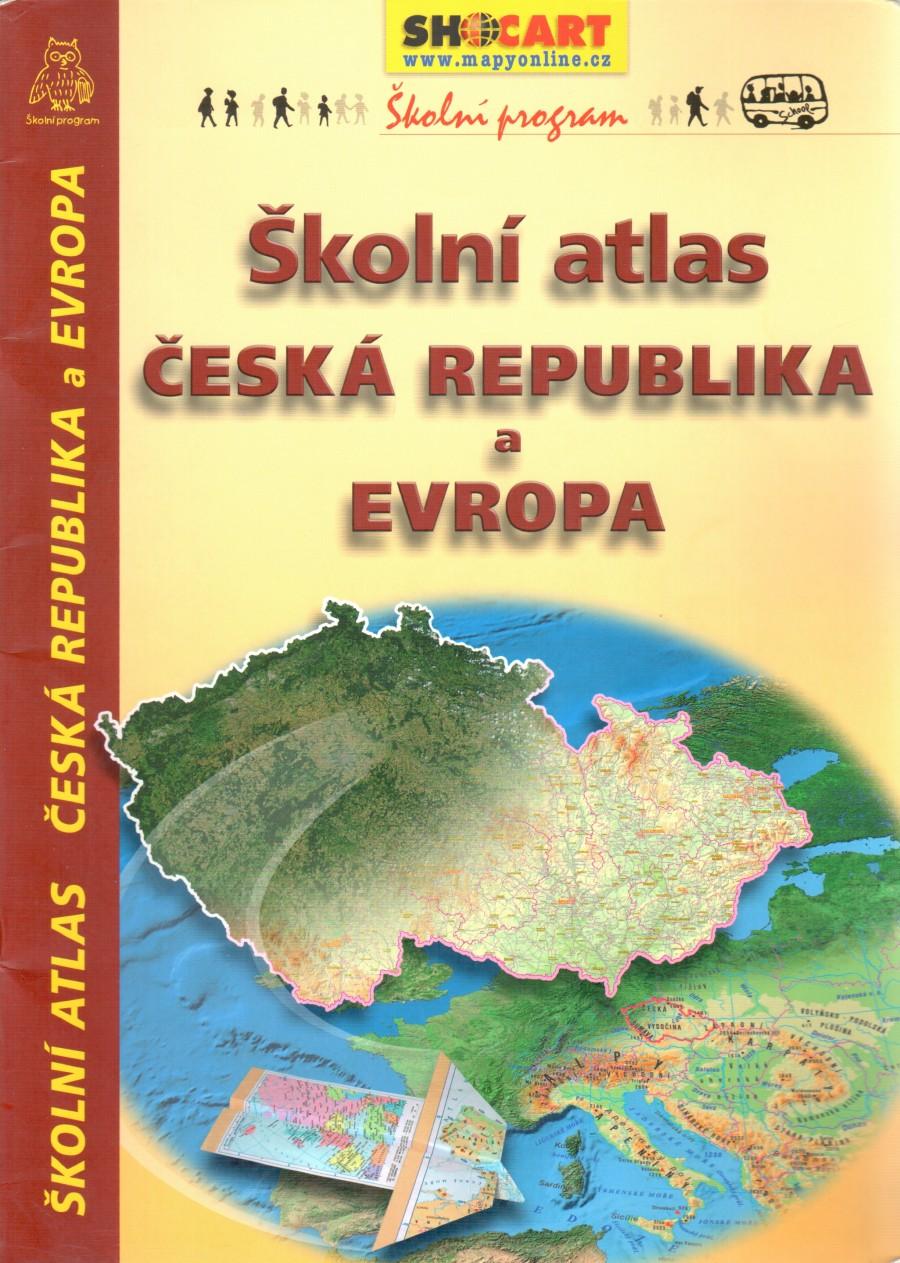 Školní atlas Česká republika a Evropa - Náhled učebnice