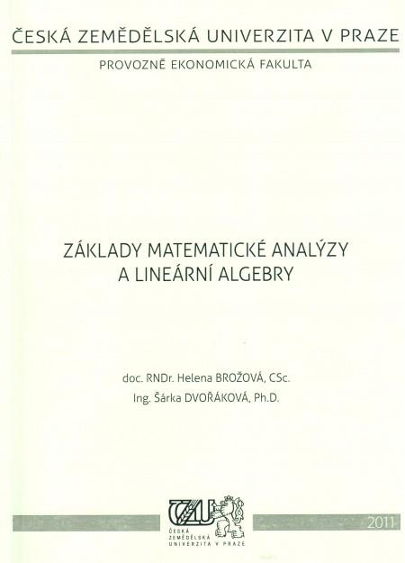 Základy matematické analýzy a lineární algebry