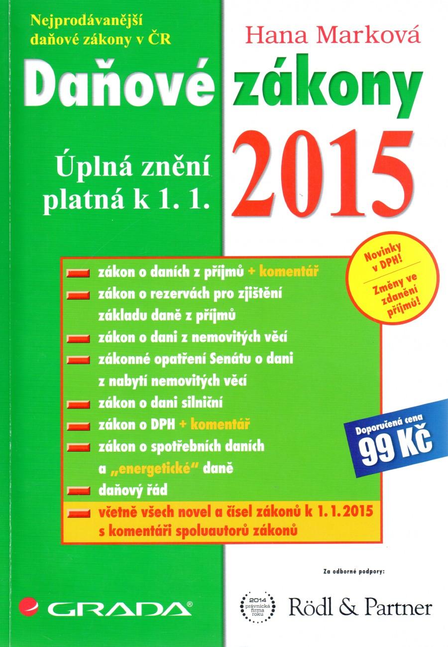 Daňové zákony 2015 - Náhled učebnice