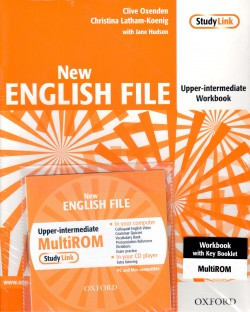NEW ENGLISH FILE UPPER-INTERMEDIATE - WORKBOOK, WITH ANSWER BOOKLET AND MULTIROM PACK